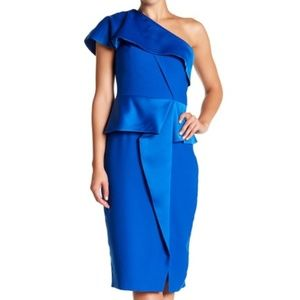 Ted Baker London Pana One Shoulder Peplum Dress